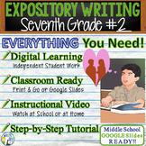 Seventh Grade #2   Citing Text Evidence Expository Essay   Print and Digital