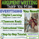 Thank You, M'am by Langston Hughes - Text Dependent Analysis Argument Writing