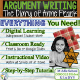 The Diary of Anne Frank - Text Dependent Analysis Argumentative Writing Prompt