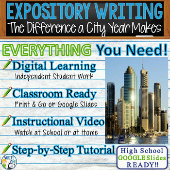 The Difference a City Year Makes Informational Article - Text Dependent Analysis