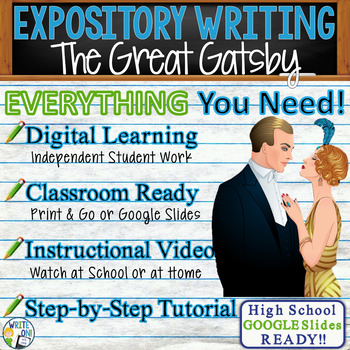 The Great Gatsby  F. Scott Fitzgerald Text Dependent Analysis Expository Writing