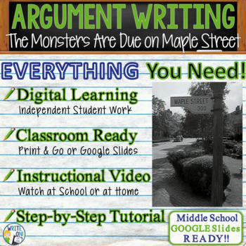 The Monsters are Due on Maple Street Prompt 1 - Text Analysis Argument Writing