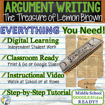 The Treasure of Lemon Brown - Text Dependent Analysis Argumentative Writing