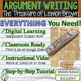 The Treasure of Lemon Brown   Citing Text Evidence Essay   Print and Digital