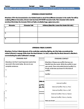 Film Review - Filmic Techniques Worksheet Table by TesEnglish ...