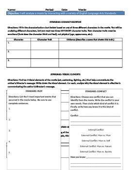 Literature and Film Study Worksheet