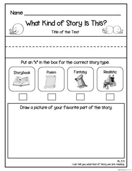 Literature and Informational Text Kindergarten Reading Activity Bundle - CCSS