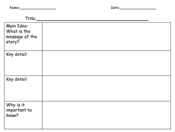 Literature and Informational Text Reading Organizers