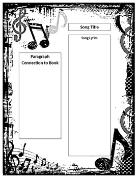 Literature and Song Analysis Comparison Graphic Organizer