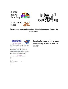Literature Circle Role Sheets and Expectation Posters