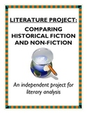 Literature comparison project - historical fiction and non-fiction texts