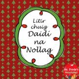 Litir chuig Daidí na Nollag (letter to Santa freebie in Irish)