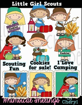 Litle Girl Scouts Clipart Collection