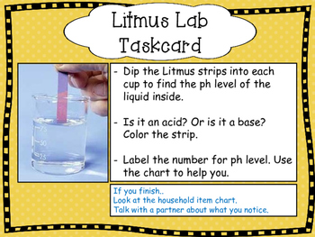 Acids and Bases Lab - Testing with Litmus Papers