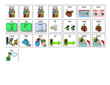 Litter Critters - These Are My Pets Core Word Manual Board and Manipulatives