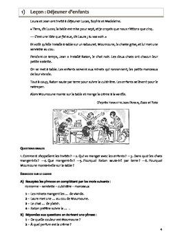 Littérature française et rédaction - Primaire Niveau 1 - Série 1