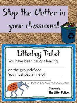 Litterbug Tickets