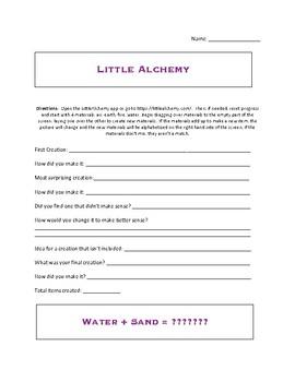Little Alchemy activity