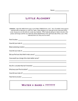 Little Alchemy activity