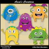 Little Alien Monsters Clipart