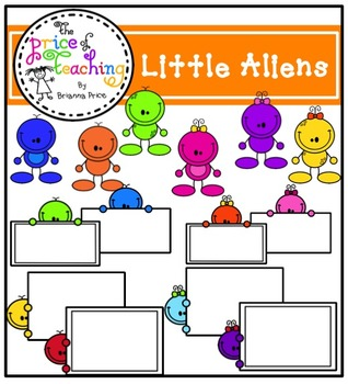 Little Aliens Clipart Set (The Price of Teaching Clipart Set)