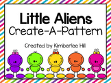 Little Aliens Create-A-Pattern Activity  { AB, ABC, AAB, &