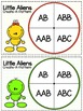Little Aliens Create-A-Pattern Activity  { AB, ABC, AAB, &