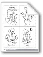 Little Alphabet Reader: Rr Robot
