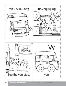 Little Alphabet Reader: Vv Van