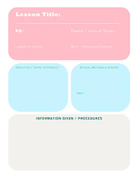 Art Lesson Plan template: Plan Your Lessons with Style!