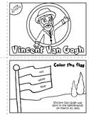 Little Artist Book- Vincent Van Gogh- Color, Cut, and Staple