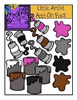 Little Artist Kids Huge Add-On Pack {Creative Clips Digital Clipart}