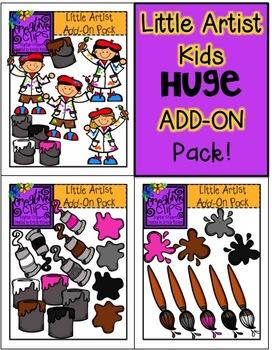 Little Artist Kids Huge Add-On Pack {Creative Clips Digita