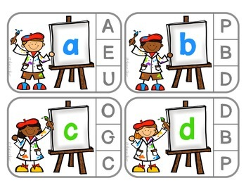 Little Artist - Matching Uppercase & Lowercase Letters