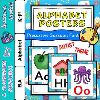 Little Artist Themed Alphabet Posters Frieze {UK Teaching Resource}