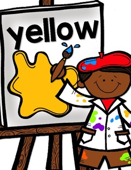 Little Artists Color Word Posters