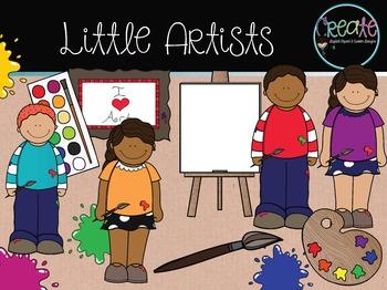 Little Artists - Digital Clipart