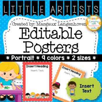 Little Artists Editable Posters (Portrait)