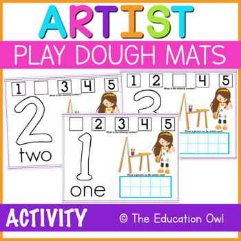 Little Artists Printable Mats Numbers 1-5