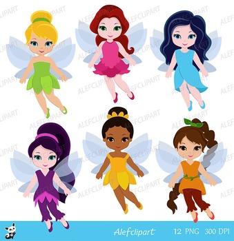 Little Baby Fairies Digital ClipArt , Fairy Digital Clip art.