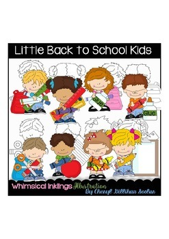 Little Back to School Kids Clipart Collection