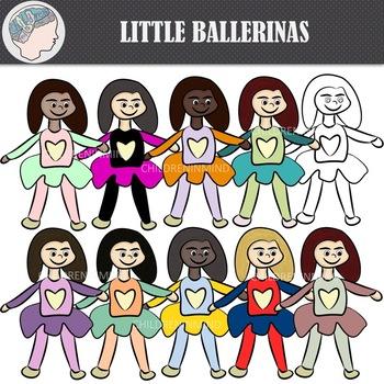 Little Ballerinas Clipart (Freebie)