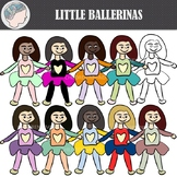Little Ballerinas Clipart (Freebie)
