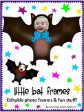 Fun Bat Editable Photo Frames and Clip Art