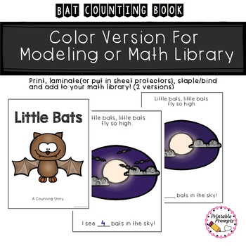 Little Bats- Counting Math Reader