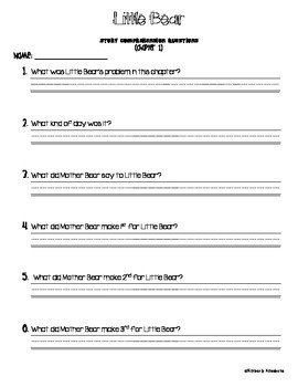 Little Bear Chapter Quizzes - Story Comprehension Questions