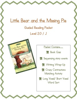 Little Bear and the Missing Pie- Reading Packet