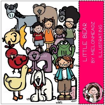 Little Bear clip art - COMBO PACK- by Melonheadz
