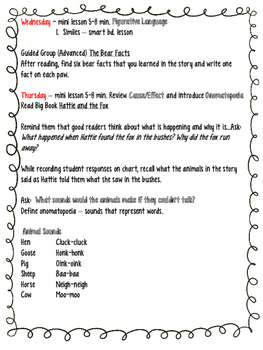 Little Bear's Friend - A Guided Reading Plan