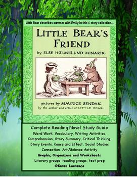 Little Bear's Friend ELA Novel Reading Study Guide Literature Packet